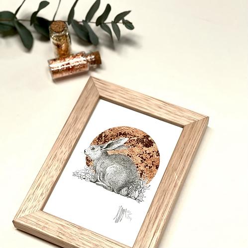 A6 Framed Rabbit