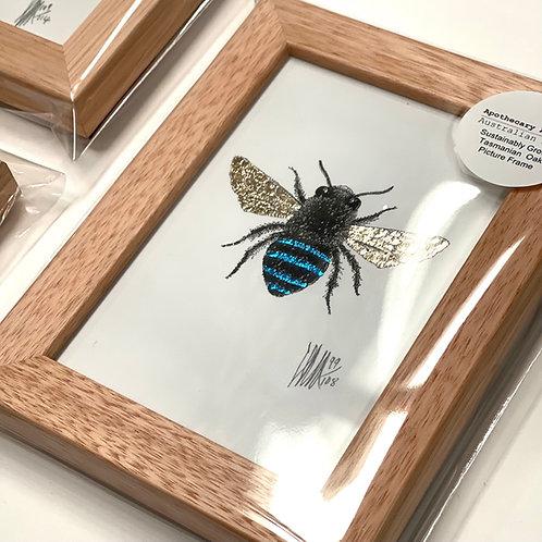 A6 Framed Blue Bee