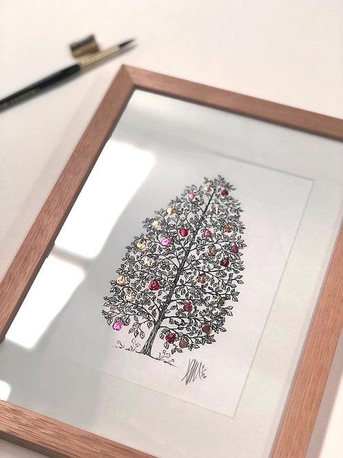A4 Hand-Made Tasmanian Oak Frame with Pear Tree