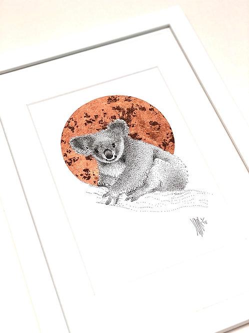 A4 Hand-made White Frame with Koala