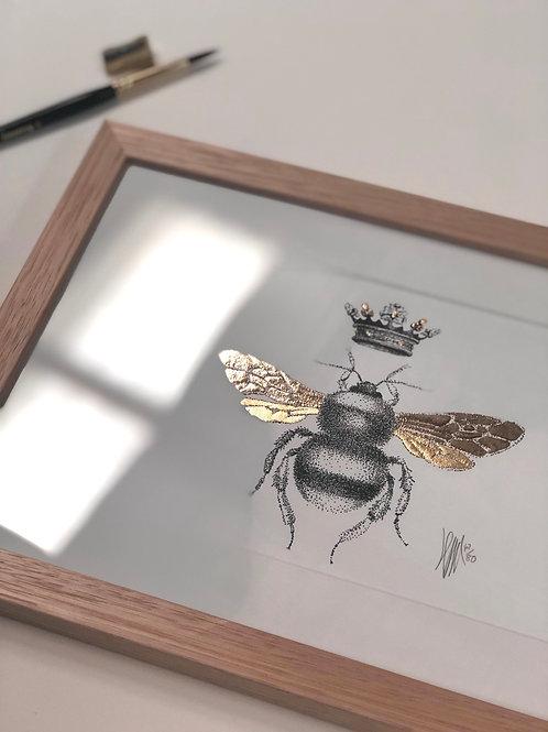 A4 Hand-Made Tasmanian Oak Frame with Bee