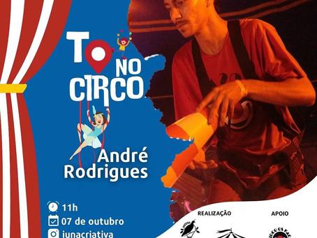 André Rodrigues, Edson Elias e Belyza Bittencourt participam da Live To no Circo
