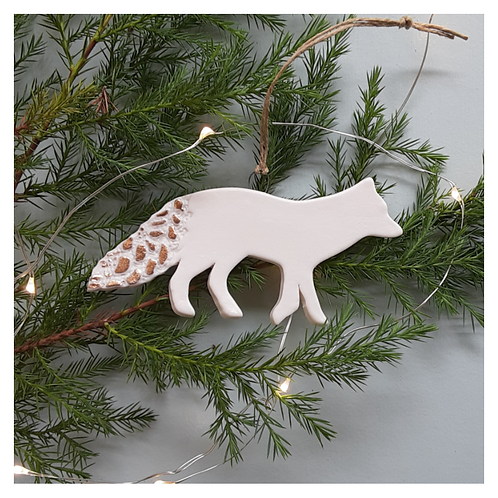 Arctic Fox with Gold Lace- MADE TO ORDER