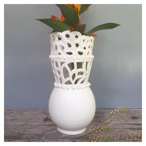 Lace Lotus Vase