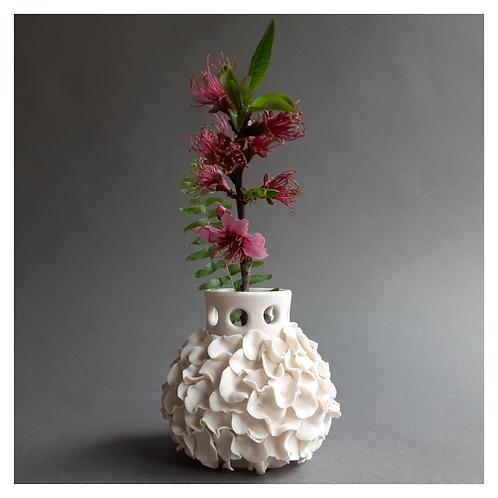 Ruffled Bud Vase
