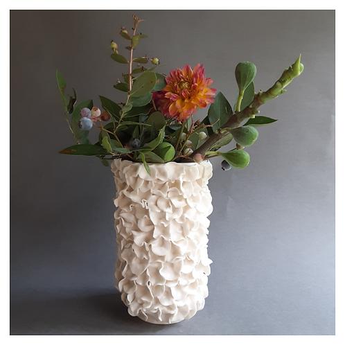 RESERVED FOR MYRNA - Ruffled Vase