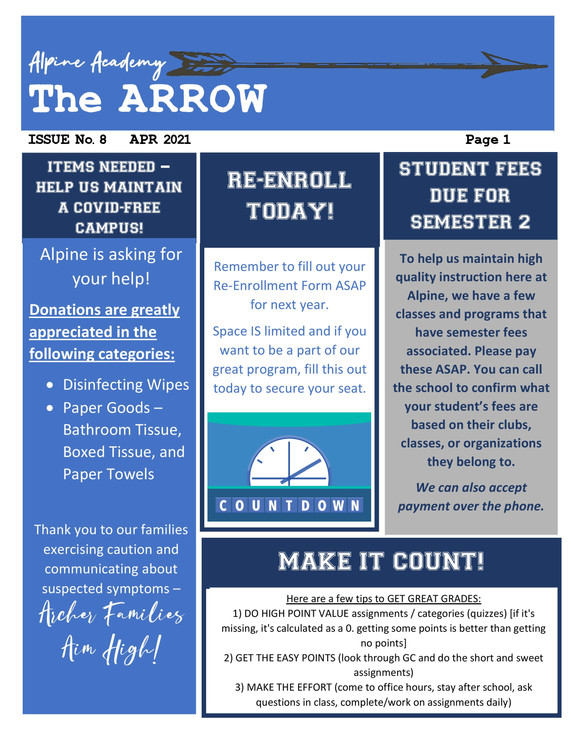 2020-2021 Alpine Academy Arrow Apr 2021