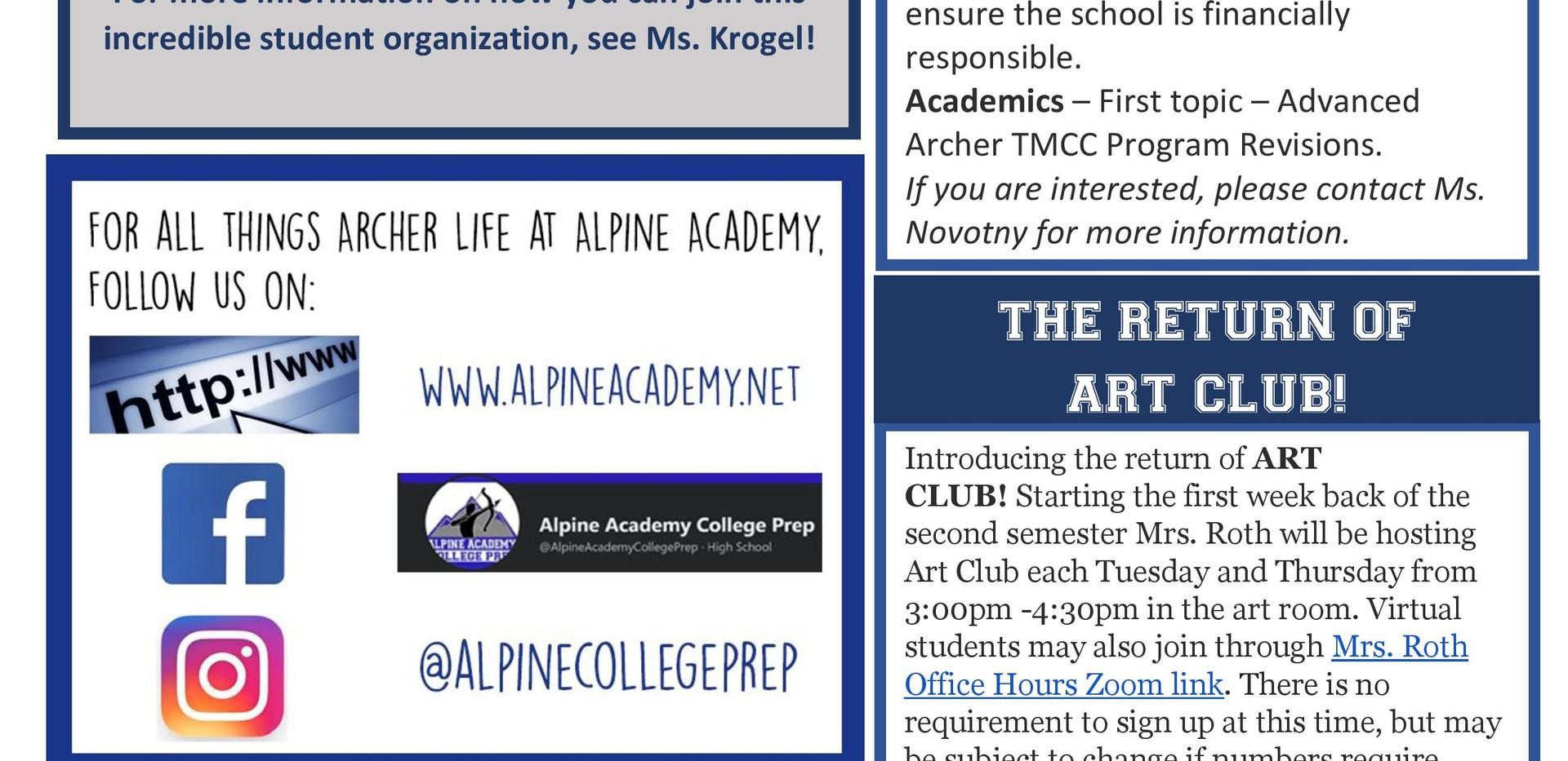 2020-2021 Alpine Academy Arrow Nov 2020