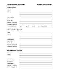 AMC Veterinary Feed Directive Survey