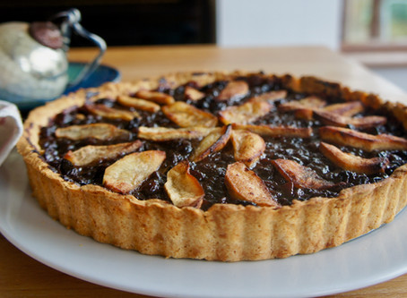Christmas mincemeat and apple tart