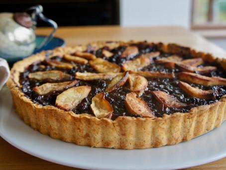 Christmas mincemeat and apple tart