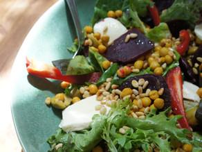 Superfood Salad and Green Goddess Dressing