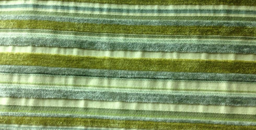Green Textured Stripe Fabric