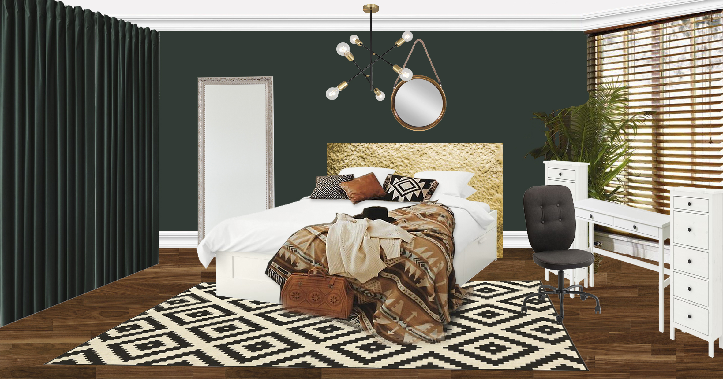 спальня концепт-борд