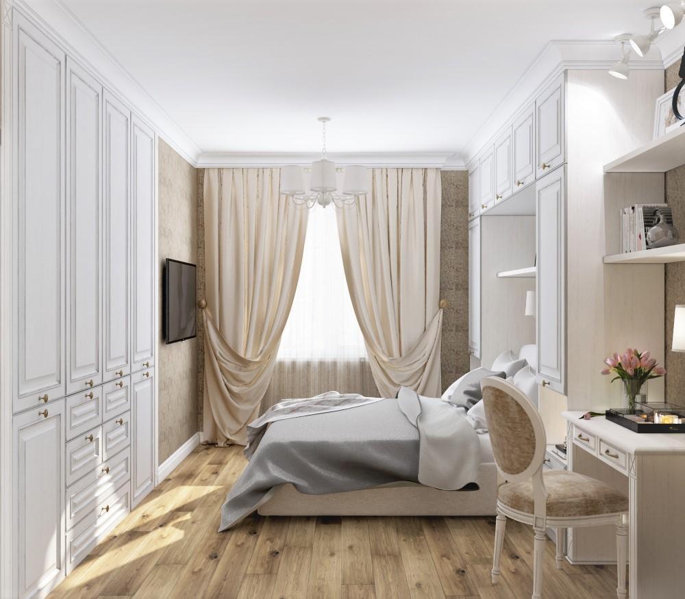 спальня в неоклассике
