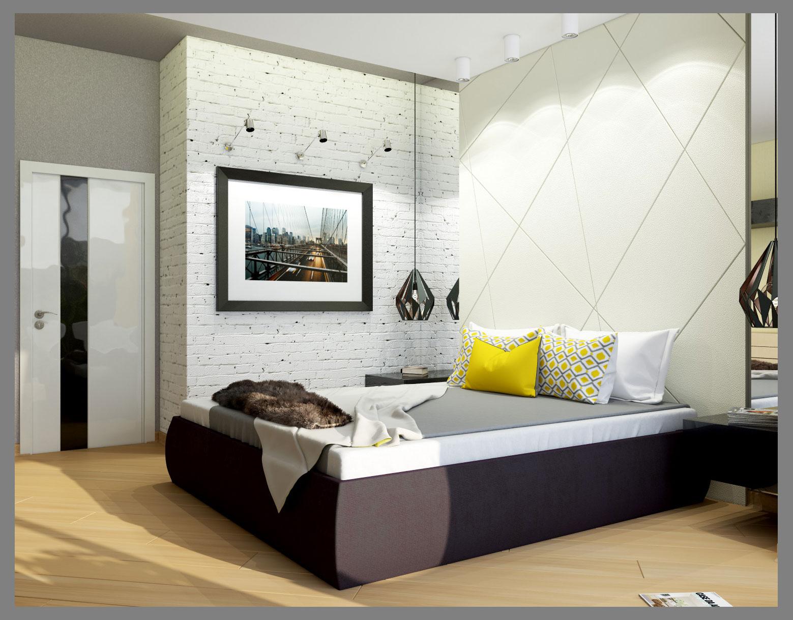 Спальня с балконной зоной.