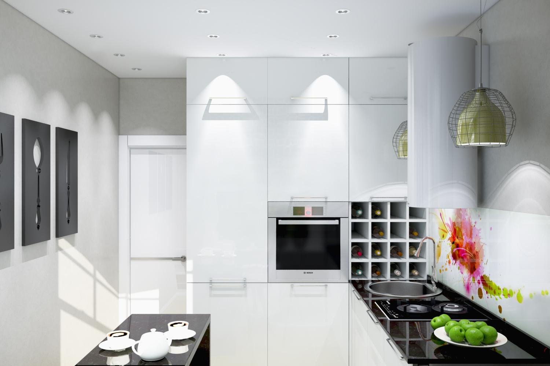 Концепт маленькой кухни
