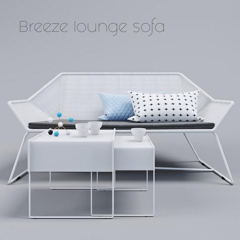 Breeze Lounge sofa by Cane-line