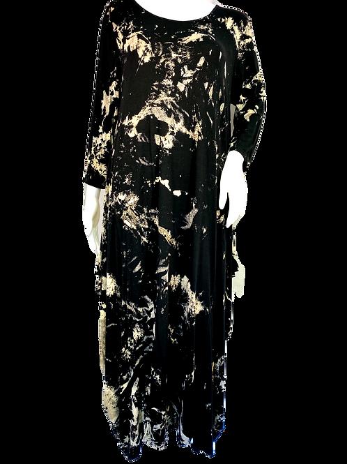 Ink Splatter Long line dress.