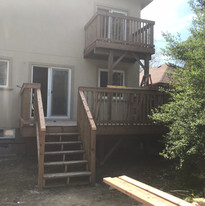 Smaller deck with small porch