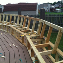 Added rounded seating onto the pool deck