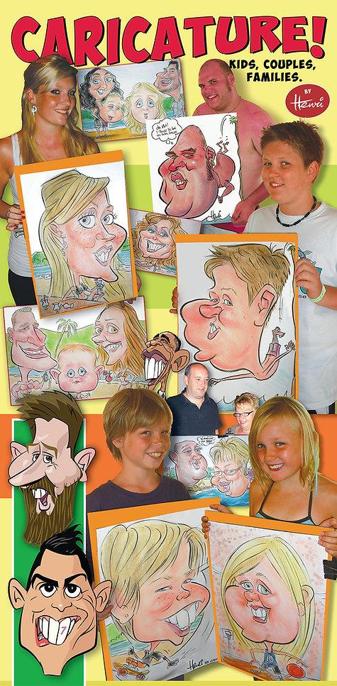 Sneltekenaar Henri Goldsmann Karikaturen op feesten - Live Caricature