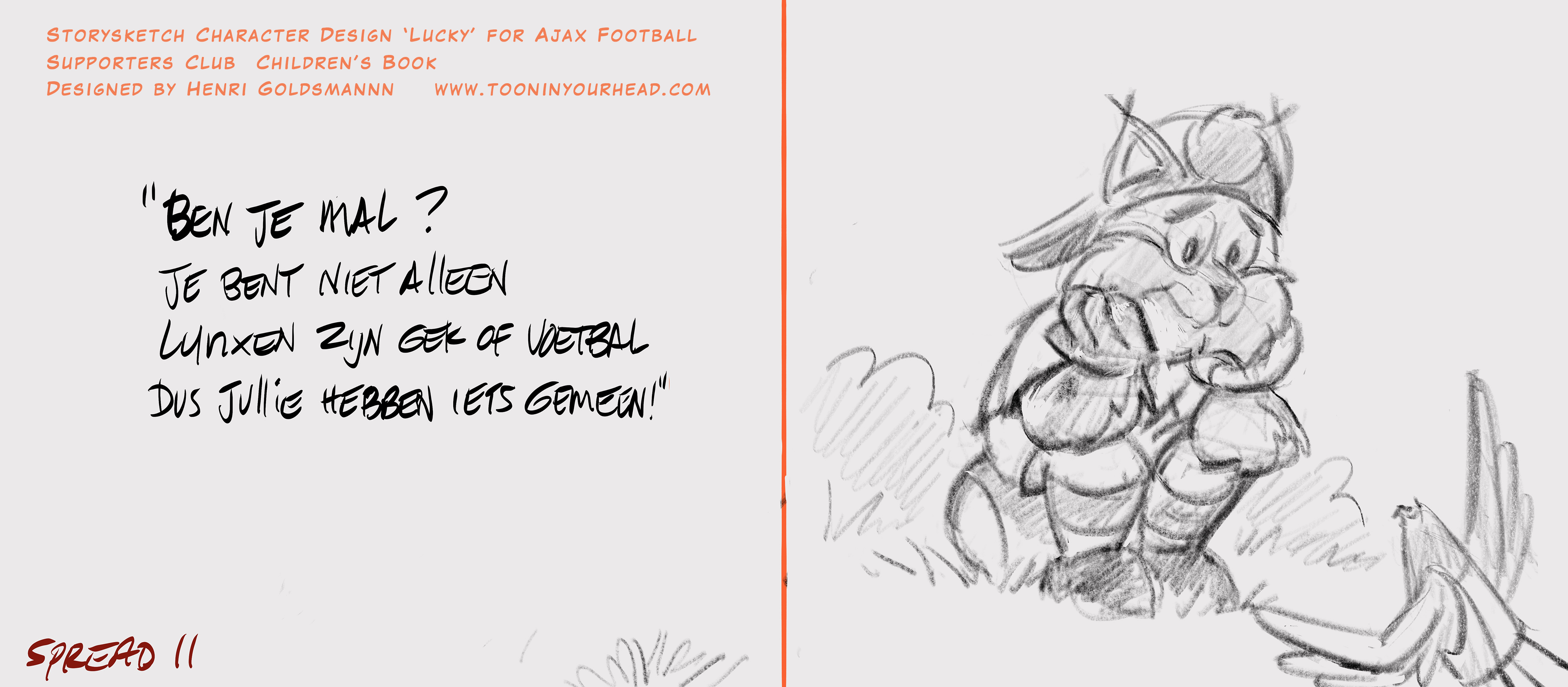 Character Design_Lucky Mascotte_Ajax