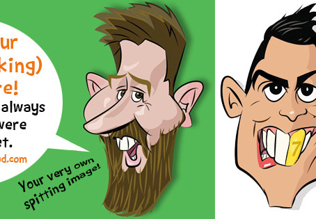 New Feature!  Order your funny animated/talking spitting image Caricature!   Publish on your website