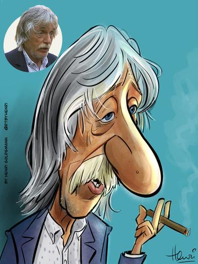 Cartoon Caricature- Johan Derksen- Voetbal Inside.jpg