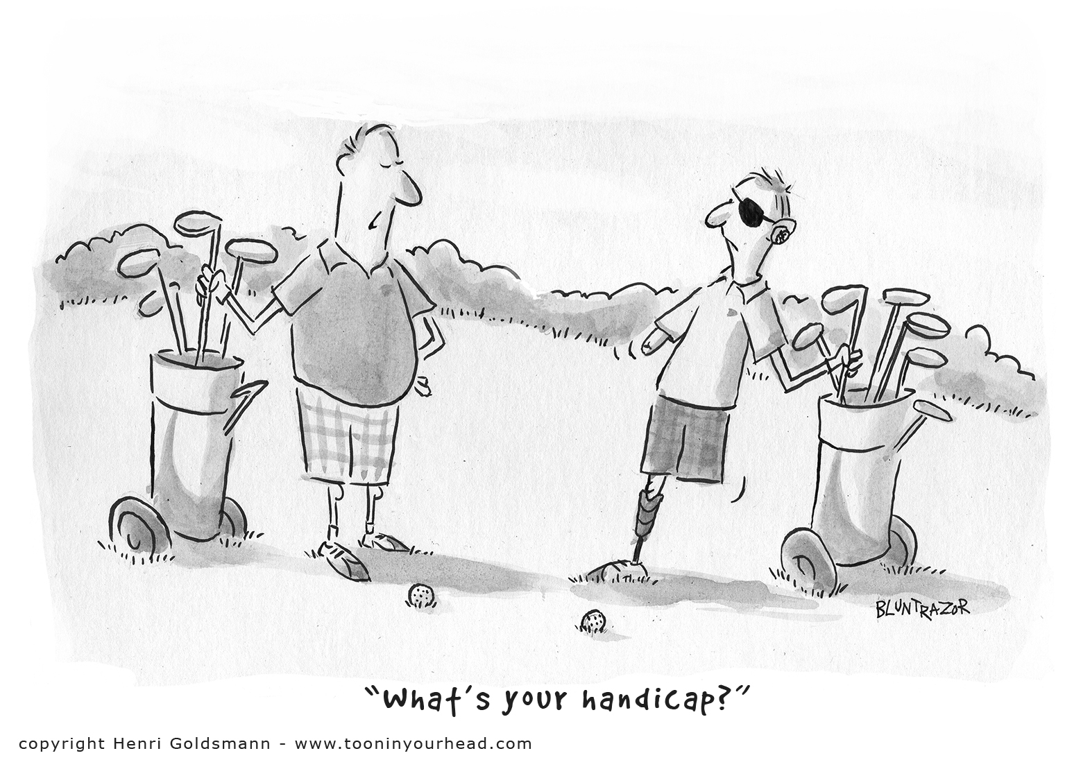 Golf Cartoon -handicap-ToonInYourHead