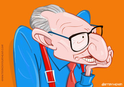 Larry King_Caricature_ToonInYourHead