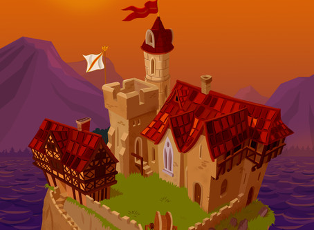 Game background Illustration in a more graphic style. www.tooninyourhead.com