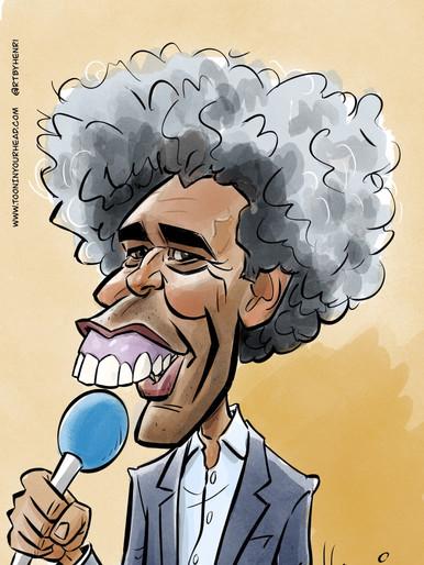 Cartoon Caricature Pierre van Hooijdonk