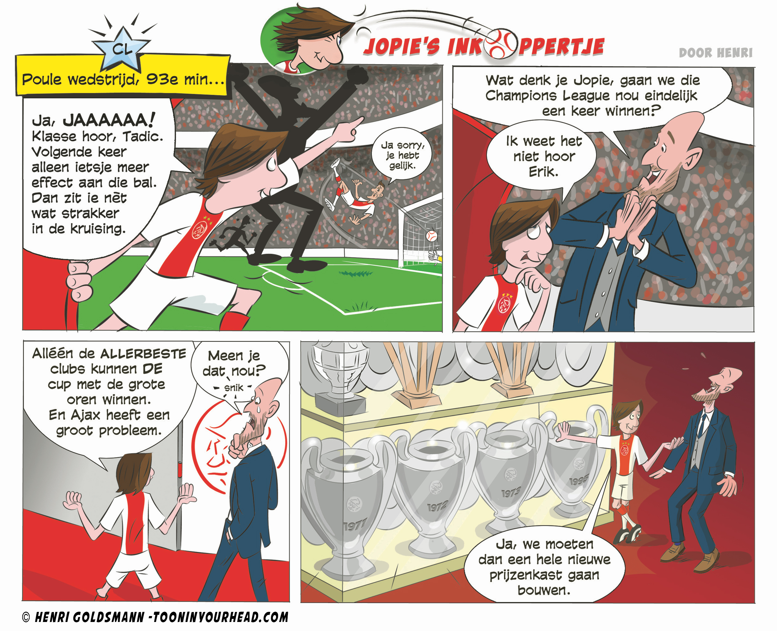 Comic Strip Feature Ajax by Henri Goldsm