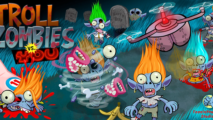 Download Troll Zombies vs You Mobile Game Google Playstore