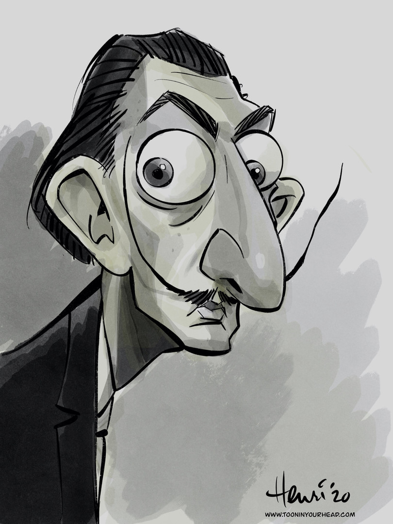 Salvador_dali_caricature_by_Henri_Goldsm