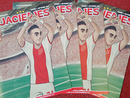 Cover illustration produced by ToonInYourHead Studios in honour of Ajax Player Abdelhak Nouri. Made