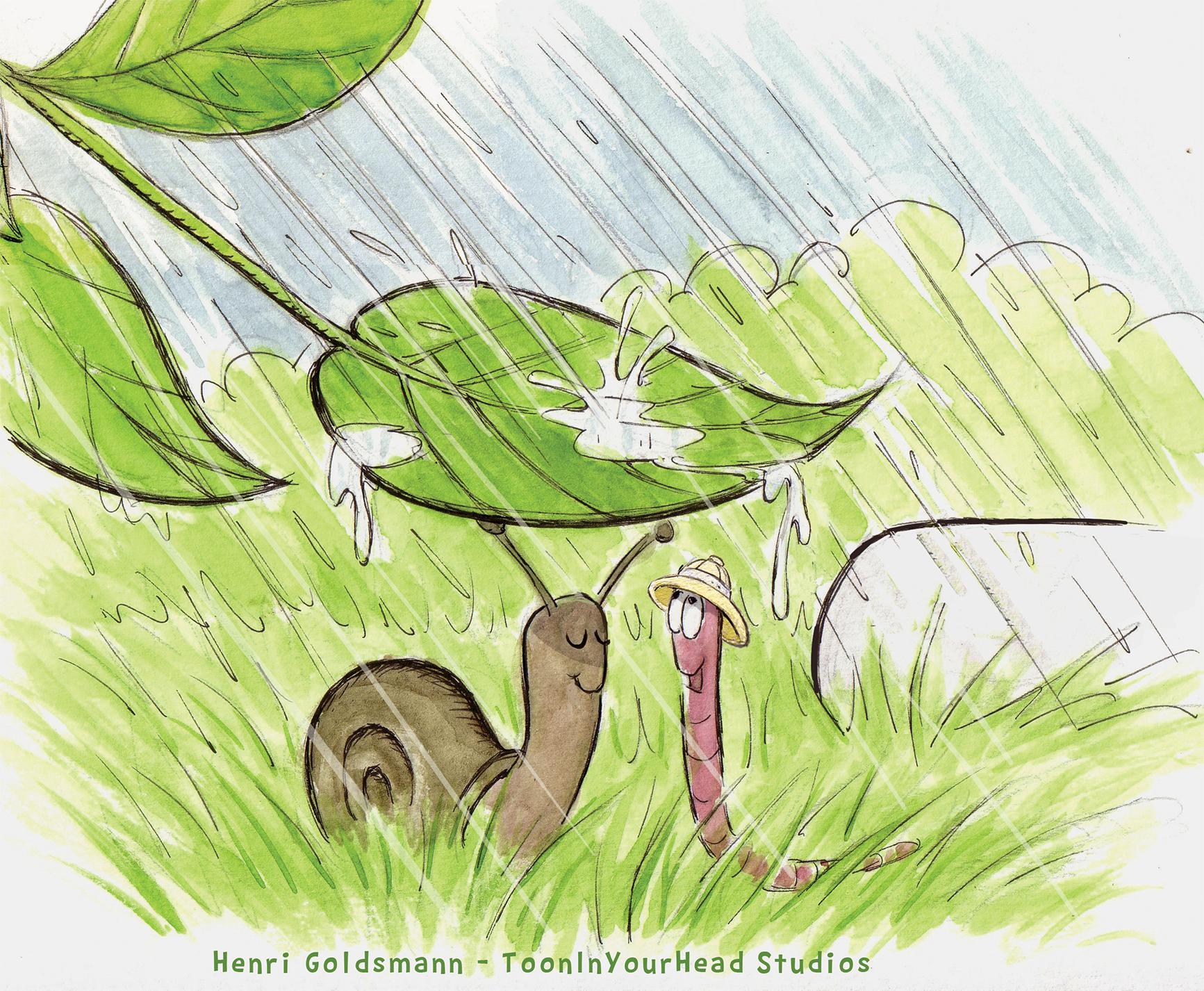 Childrens Book Illustration -story sketch Hidden Valley