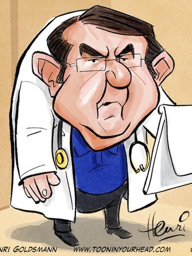 Dr. Now Caricature Henri Goldsman