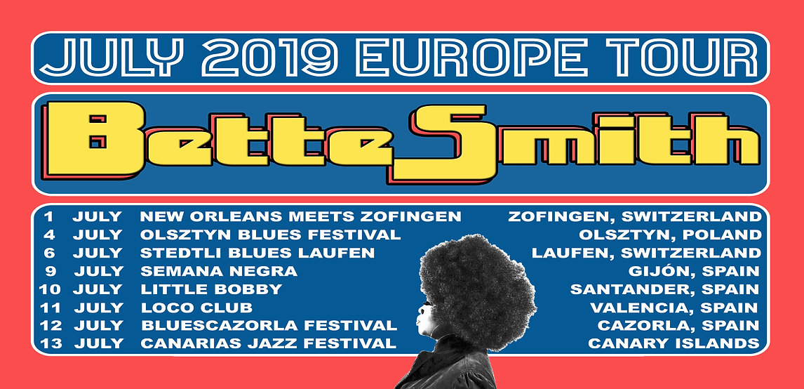 Bette Smith - July 2019 Europe Tour Post