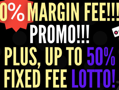 0% Margin PROMO for META 😲!  AND a LOTTO for Delegators to win 50% of the Fixed Fee 😲😲!