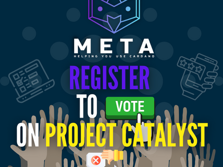 Register to Vote on Project Catalyst