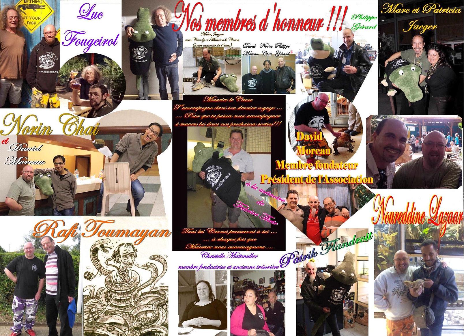 membres d'honneur de l'association L'oeil du Croco