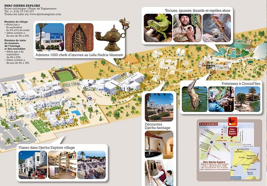 Plan du parc Djerba Explore en Tunisie.j