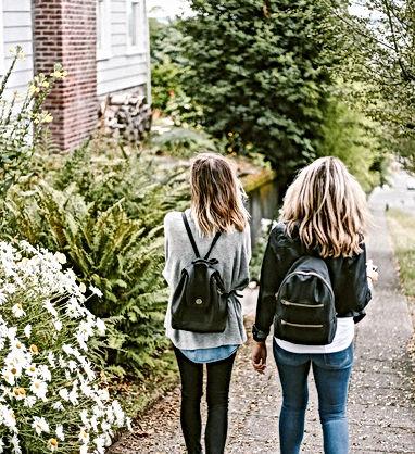 Friends Walking Home