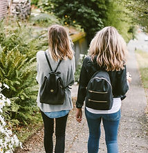 Friends Walking Home