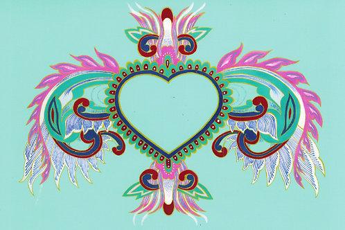 Corazon Infinito Art Print
