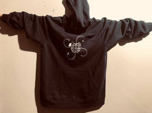 Elemental Black Pullover Hoodie w/ Pocket