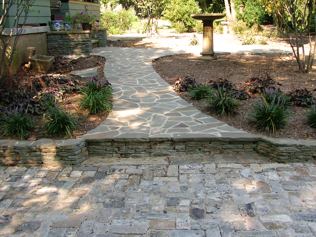 Walkway in natural stone