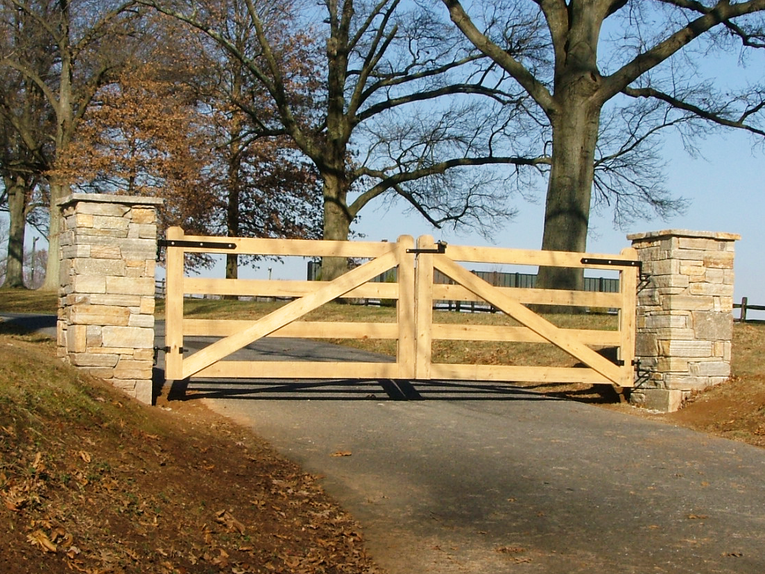 Natural stone gate posts